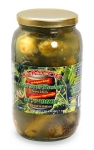 ZAKUSON, New Dills Pickles Half Sour Kosher (Malosolnie), 33.8oz/1L