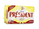 """President"", Unsalted Butter in Foil, 7oz/199g, Product of France"