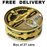 Czar Sprats In Delicacy  Oil, 8.45oz/240g, Product of Latvia, Box of 27 Cans, Free Delivery