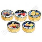 Cambridge & Thames Assorted Fruit Drops, 5.3oz/150g, 12 Tin Case, Product of Germany