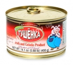"Tushenka ""Vkusnosti"", Pork and Gelatin Product (Poland), 14.1OZ/0.88LB/400g"
