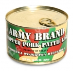 Chopped Pork Pattie Loaf, Army Brand, Tushenka, Product Of Poland, 14.89oz/425g