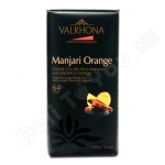 Valrhona, Manjari Orange, Grand Cru Manjari Bar With Orange, 64% Cacao With Orange Confit, Bitter Sweet Dark Chocolate, 3.52oz/100g, Product of France