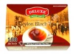 """Deluxe"", Fresh Taste, Ceylon Black Tea, 100 bags Of 1.5g, 5.28oz/150g"